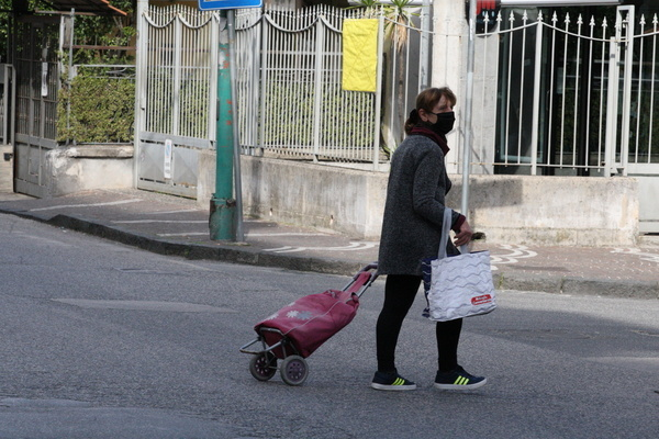 GV of lockdown in Arzano,province of Naples,Southern Italy