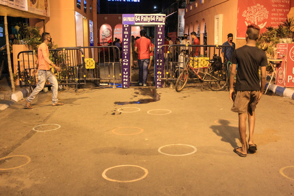 People of Kolkata has been started pandal hopping in this new normal condition. The puja communities are obeying the rules and regulations of Kolkata High Court and controlling the crowd with proper safety measures.