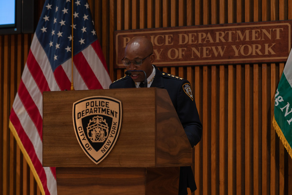 NYC Police Commissioner Dermot Shea and Police chief Rodney Harrison held a press conference to announce the new civilian panel that will help the NYPD with hate crimes.