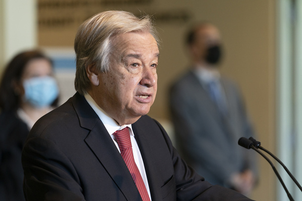Secretary-General Antonio Guterres addresses press after re-election for the second term at UN Headquarters. Amina Mohammed was chosen by SG to serve as his deputy during second term. Antonio Gutterres in his remarks outlined main priorities for his second term as SG of United Nations.
