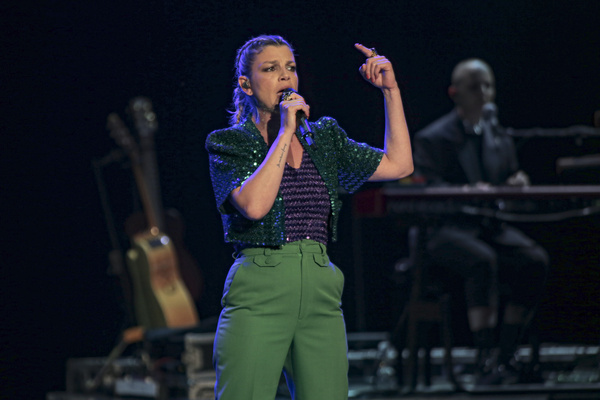 """Emma in """"Fortuna Live 21 Tour"""" at the Cavea of the Auditorium Parco della Musica in Rome. The singer performed by presenting her latest work, after the pandemic stopped."""