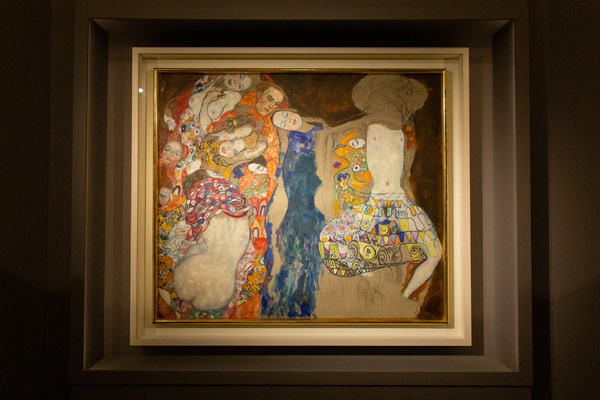 """""""The Bride"""" by Gustav Klimt, at exhibition """"Klimt. La Secessione e l'Italia"""" at Museo di Roma in Palazzo Braschi in Rome"""