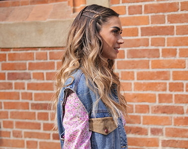 Italian showgirl Melissa Satta posing for photographers in the street before Philosophy by Lorenzo Serafini fashion, during Milano Fashion Week Fall/Winter 2020.