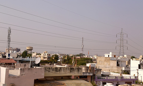 High voltage electricity wires pass dangerously over houses at Krishna Colony in Beawar. Six people were burnt to death and 19 others injured after a private bus came in contact with an high voltage line and caught fire in Rajasthan's Jalore district late Saturday night. Bus filled with Jain pilgrims, was travelling from Jalore to Beawar.