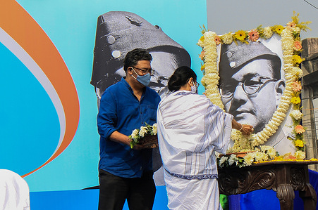 Chief Minister of West Bengal Mamata Banerjee inaugurates the program of Netaji's 125th birth anniversary celebration in Kolkata on 23rd January. Thousands of people join the rally to celebrate the day. Netaji Subhas Chandra Bose was born on January 23, 1897, in Cuttack. He is known among the most revered freedom fighters of India.