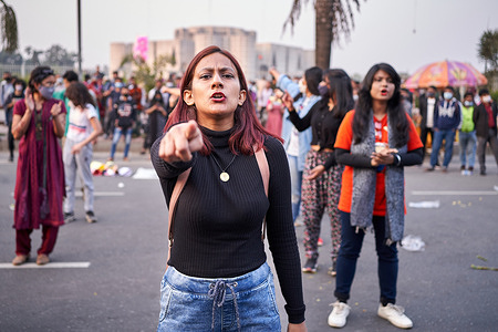 Students are gathered to protest against the rape and murder of Aruna Amin in Dhanmondi, Dhaka. Also, they protest and speak about the recent rape and murder of a homeless street girl named Mim at the Dhaka Shahid Minar.
