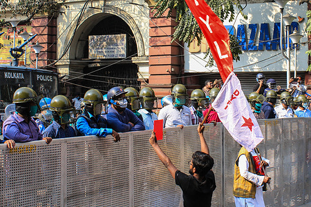 Clashes broke out between members of SFI and  Left parties and Kolkata Police as the protesters took out a rally to march to Nabanna, CM Mamata Banerjee's office on Thursday. Water cannons were used against the protesters and the police deployed at Dorina Crossing at Esplanade in central Kolkata resorted to baton charge to disperse the crowd.