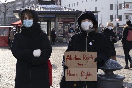 Polish women protest in Berlin, Solidemo.