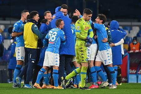 Naples vs Juventus - Lega Serie A at Maradona Stadium.