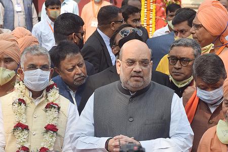 Union Home Minister Amit Shah visits the Hindu charitable non-governmental organisation Bharat Sevashram Sangha during his visit in Kolkata.
