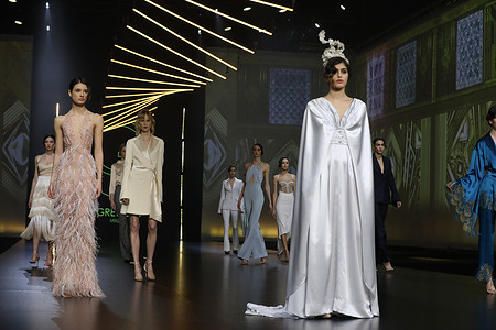 """Gretel Z. presenting his collection """"The new 20's"""" during AltaRoma 2021."""