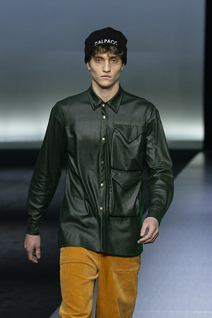 Dalpaos catwalk show during the AltaRoma fashion week in Rome.