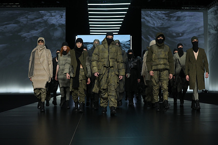 Gall presenting his Fall/Winter 21-22 collections at AltaRoma 2021.