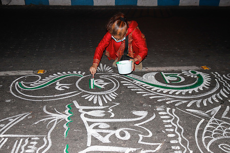 """Preparation of International Mother Language Day in Kolkata. The theme for the year 2021 is, """"Fostering multilingualism for inclusion in education and society"""". Every year, February 21 is observed as International Mother Language Day. The idea to celebrate this day was initiated by Bangladesh, and it so happened, after a long period of struggle. In the year 1952, Bangladesh (then Pakistan) saw a massive language movement in Dhaka as the people stood up for their rights."""