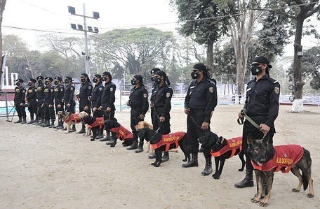 Director General of Rapid Action Battalion (RAB) Chowdhury AAM Toady said that they have taken a three-tier security measure at the Central Shaheed Minar to ensure a smooth and peaceful celebration of the International Mother Language Day on February 21. The RAB chief made the comments while addressing the press after inspecting the security arrangements at the Central Shaheed Minar on 20 February 2021.   Mr. Toady said the security cordon has been set up in coordination with RAB, police, and law enforcement agencies.  Responding to a question, the RAB chief said there is no threat so far.