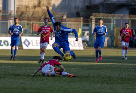 Serie C Championship - Marcello Torre Stadium 26th day - Group C. The match between Paganese and Turris ends with the final result of 2 - 0. Francesco Scarpa (10) Paganese Calcio 1926 during a match action.