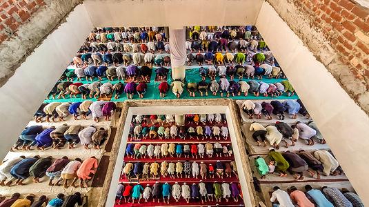 Jummah Prayer in Bangladesh during post Covid Time.