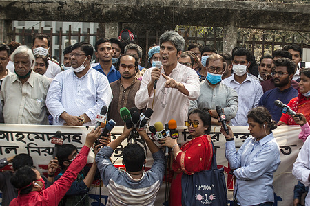 Protesters marched to Prime Minister office to demand for the abolish of the Digital Security Act. They also demand to withdraw the law before the next Independence Day and justice for the writer Mushtaq Ahmed in Dhaka .
