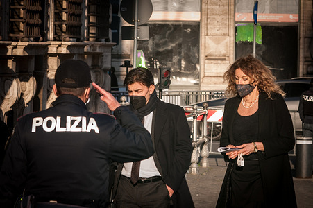 Ministers during the arrival at Palazzo Chigi for the Council of Ministers, the Minister of Disability of the Draghi government is Erika Stefani.
