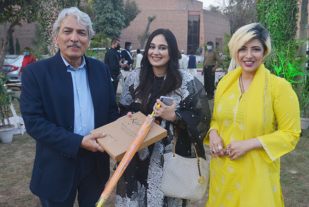 Pakistani Girls wearing summer collection clothes during launching ceremony of Kayseria Master,s collection in Collaboration with Dr Rahat Naveed Masud-Flowering tree of lahore  at Al-Hamrah Arts Council in provincial capital city  Lahore, the effort  and organised by Waleed Zaman brand manager Kayseria.
