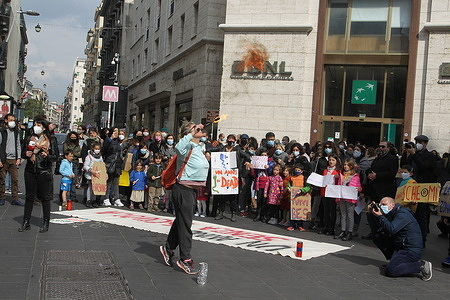 No DAD (No Didattica a Diztanza) protest in Naples, committees following the closure of schools in Campania decided by the Region until 14 March. Demonstration for the right to education one year after the closure of schools.