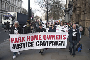 The Park Home Owners Justice Campaign National Rally Pictured Outside 10 Downing Street